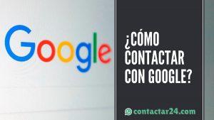 como contactar google
